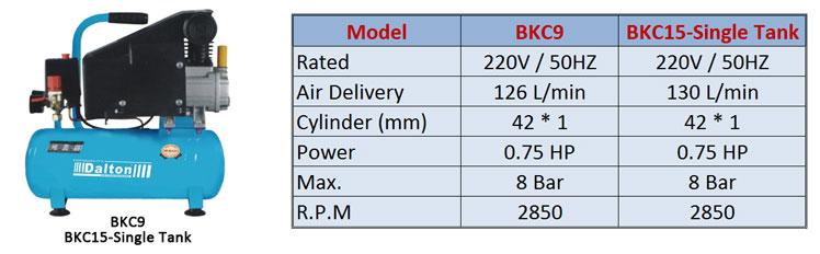 1-BK-C9 & BKC15-Single-Tank