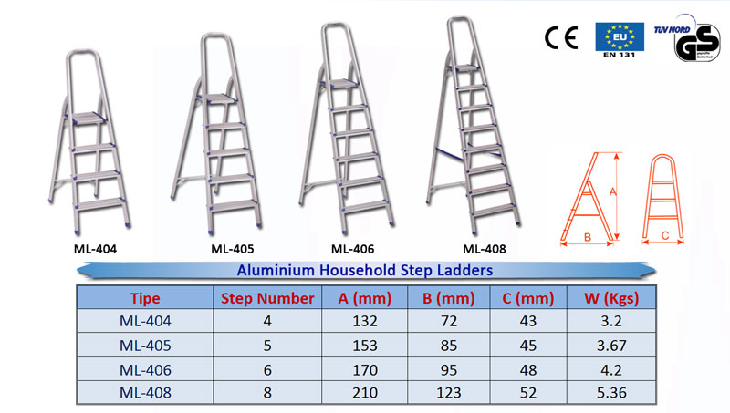 Aluminium-Household-Step-La