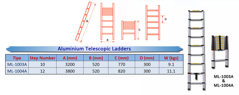Aluminium--Telescopic-Ladde
