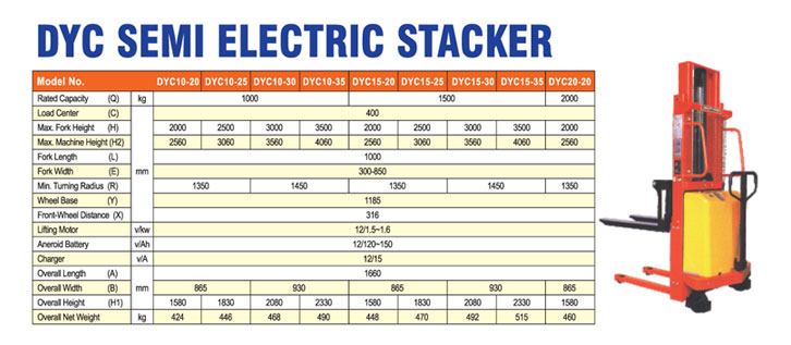 DYC-Semi-Electric-Stacker