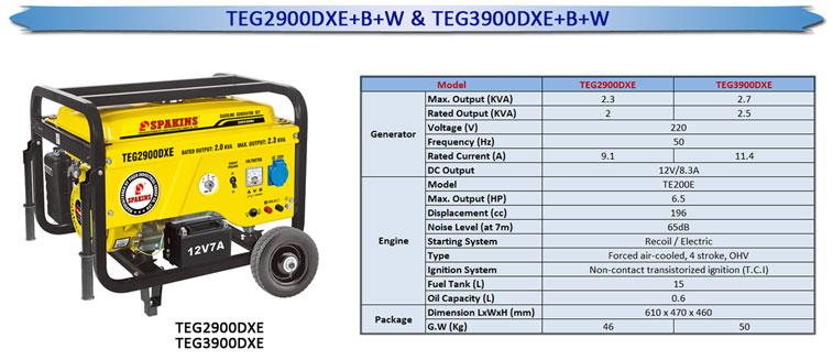TEG2900DXE+B+-&TEG3900DXE+B